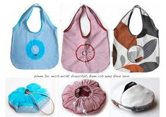 Sewing a foldable shopping bag - also a nice gift .- Sewing a foldable shopping bag – also a nice gift b-patterns Shoping Bag, Diy Bags Purses, Reusable Grocery Bags, Fabric Bags, Market Bag, Cloth Bags, Bag Making, Sewing, Instagram