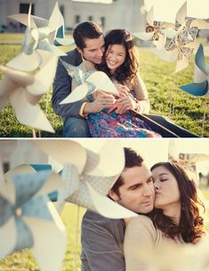 Playful Pinwheels for your Engagement Photos