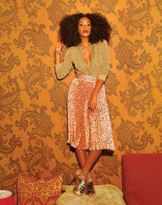 Solange. Always comfortable in her own skin, with her own style.