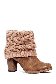 Chris Knit Cuff Chunky Sole Bootie by MUK LUKS on @HauteLook