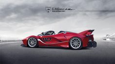 Ferrari FXX K Spider by Evren Milano, without roof