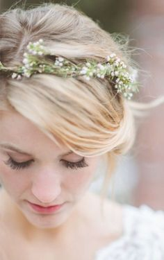 Just like the original...But thinner :) Ethereal babys breath crown - made with…