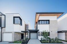 West | Flagship Terrace Homes | Studio Nine Architects West Home, Home Studio, South Australia, New Builds, Terrace, Building Development, Garage Doors, Multi Story Building, Construction