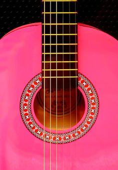 Pink Guitar by © Sabine A. Rusted ~ The Creative Minds..I will be the next to learn...My boo says I have the perfect hands to play!!!!