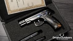 CZ 75 B 40th Anniversary 9mm handgun. This is #844 of #999. info@omahaoutdoors.com ☎ 1 (713) 703-4648 Follow @omahaoutdoors if you haven't done so already. Only ship to your FFL. Contact Omaha Outdoors for your CZ-USA firearm needs. ‪#‎cz75‬ ‪#‎czusa‬ ‪#‎czfirearms‬ ‪#‎cz75b‬ ‪#‎gun‬ ‪#‎pistol‬ ‪#‎9mm‬ ‪#‎gunporn‬ ‪#‎dtom‬ ‪#‎2a‬ ‪#‎wedontbuckaround‬ ‪#‎omahaoutdoors‬