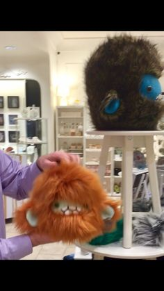 Adorable severed yeti head plush toys by CarefulItBites - see these & other locally Seattle / Pacific NW made gifts in my video.