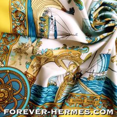 Just sold out! Les Normands #Hermes Paris scarf by Ledoux in 1971 was in store http://forever-hermes.com #ForeverHermes  It features the Norman Fleet in the style of Bayeux Art Tapestry from 11th Century and the events leading up to the Battle of Hastings from year 1066 when Duke William of Normandy was victorious over King Harold the design depicts warships horse and warriors of that age. A very rare item! Hermes Paris #HermesCarre #hermescollector #nautical #history