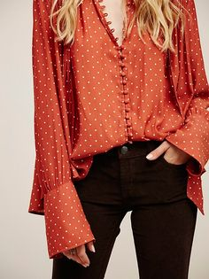 Modern Muse Dotted Blouse