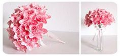 flowers made by colored paper bouquet