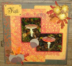 Scrapbook layout Fall