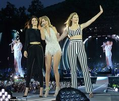Kendall Jenner, Cara Delevingne, Gigi Hadid at London music festival #dailymail