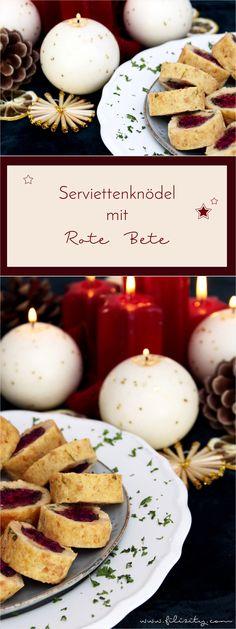 Unvergessliche Momente: Mit diesen Serviettenknödeln mit weihnachtlicher Rote-Bete-Füllung wird das Weihnachtsmenü zu einem besonderen Genuss für Groß und Klein. #rezept #weihnacht #weihnachtsmenü #knödel #rotebete