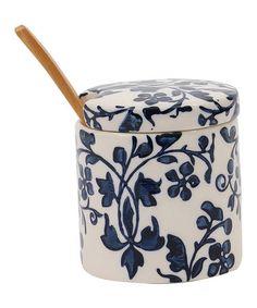 Look what I found on #zulily! Blue Floral Sugar Bowl #zulilyfinds