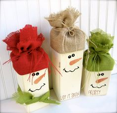Large Snowman Trio: Perfect way to Decorate for the Winter Season on Etsy, $34.95