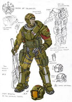 ArtStation - light colonial infantry, Vasily Khazykov
