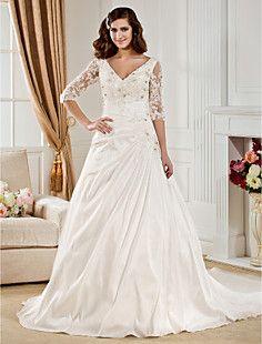 QUEENIE - Vestido de Noiva em Tafetá – BRL R$ 718,11
