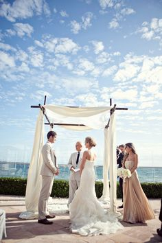 This Santa Barbara Oceanside wedding is stunning! | StyleMePretty.com #santabarbara #weddings
