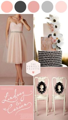 Blush Pink and Gorgeous Gray | Wedding Ideas