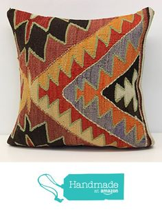 Throw kilim pillow cover 16x16 inch (40x40 cm) Decorative Boho kilim pillow cover Home Decor Natural Pillow cover Garden decor Kilim Cushion Cover from Kilimwarehouse https://www.amazon.com/dp/B06XWRDWC3/ref=hnd_sw_r_pi_dp_S6M2ybG82P3X5 #handmadeatamazon