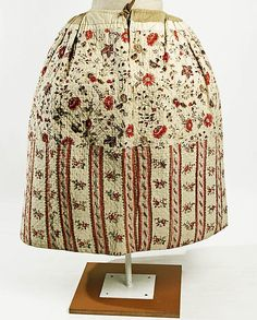 the rest of the story...from the Met, late 18th century, quilted linen petticoat of chintz via Little Augury