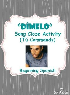 Dimelo - Teach Spanish tú commands through pop music