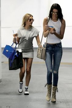 Kendall Jenner hits the shops in Beverly Hills with Hailey Baldwin #dailymail