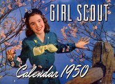 Girl Scout 1950 calendar
