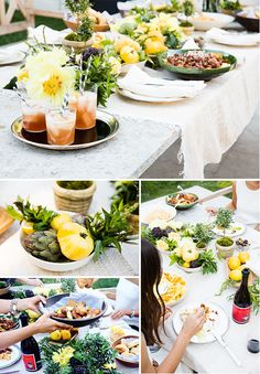 Summer table for al fresco dining -  Food Styling: Valerie Aikman-Smith Photography: Erin Kunkel