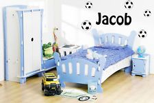 Your name football decal wall sticker boys bedroom art