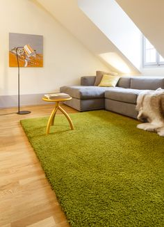 Colourful Cosiness - Wool Classic Carpet Piu presented in 8 new colours - here: Olive(Colorit Nr. Shag Rug, Carpet, Colours, Wool, Rugs, Classic, Home Decor, Shaggy Rug, Farmhouse Rugs
