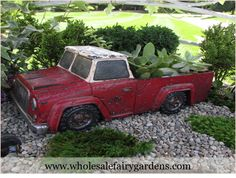 Rustic Red Truck Planter