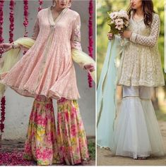 To Customised this garment log on to www. Pakistani Wedding Outfits, Pakistani Dresses, Indian Dresses, Indian Outfits, Pakistani Gharara, Sharara, Pakistani Couture, Indian Couture, Eid Dresses