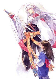 INUYASHA | fanart | Sesshoumaru & Rin