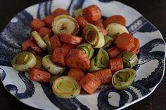 Roasted Leeks & Carrots
