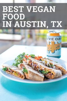 Check out this epic list of the best vegan restaurants in Austin, Texas. From food trucks to ice cre Vegan Food Truck, Food Trucks, Delicious Vegan Recipes, Vegetarian Recipes, Healthy Recipes, Best Vegan Restaurants, Upscale Restaurants, Best Coffee Shop, Coffee Shops