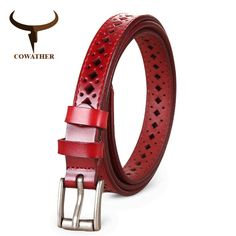 Price-6$  COWATHER 2017 Good Women belts cow genuine leather pin buckle vintage style top quality newest luxury female strap original #womenfashion #womenbelt #belt