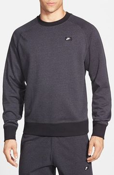 Nike+'AW77'+French+Terry+Crewneck+Sweater+available+at+#Nordstrom