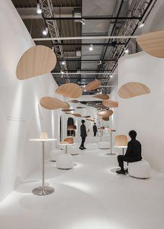 kosuke araki and akira muraoka reevaluate wood for milan design week Booth Design, Banner Design, Wooden Canopy, Wood Store, Interior And Exterior, Interior Design, Exhibition Booth, Exhibition Stands, Timber Buildings