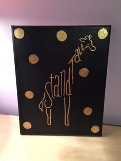 SORORITY CANVAS  stand tall by LHcanvas on Etsy