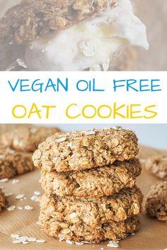 VEGAN oat cookies HCLF Oil Free