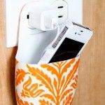 Make a cell phone holder from a lotion bottle.