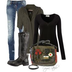 """Vintage Weekend"" by orysa on Polyvore"