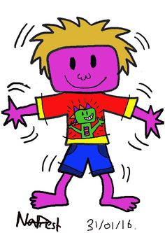 Skills and Development  Animation Practice module. Character design of Zack character who has ADHD.