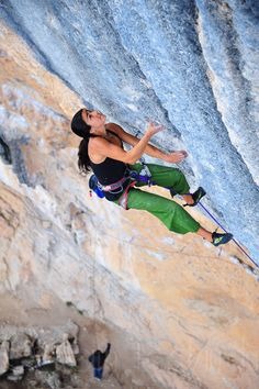 Daila Ojeda climbing 5.14c in Oliana Spain.  The luckiest girl in the world...