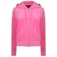 JUICY COUTURE Crown Sunset Hooded Jacket (2.985 ARS) ❤ liked on Polyvore featuring tops, hoodies, glitter top, juicy couture tops, juicy couture, hooded top and velour hoodies