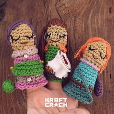 O Blog da DMC: Os Fantoches em Amigurumi de Kraft Croch