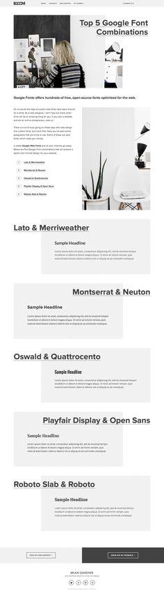 Google font combinations full