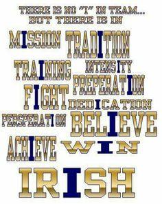 "Notre Dame - No ""I"" in team but Nd Football, Football Fever, College Football Teams, Notre Dame Football, Irish Fans, Go Irish, Irish Pride, College Football Schedule, College Fun"