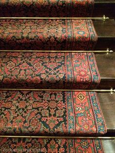 Rhinelander Mansion, Home of Ralph Lauren NYC Men's Flagship Store - Stairs Painted Stairs, Wood Stairs, Basement Stairs, Staircase Runner, Stair Runners, Stair Rug Runner, Modern Staircase, Carpet Brands, Beautiful Stairs