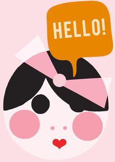 Hello Molly! by Hello Yellow A3 Art Print